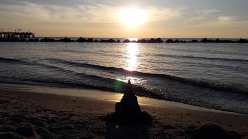 Kleckerburg im Sonnenuntergang