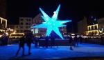 die Eisbahn mit Stern