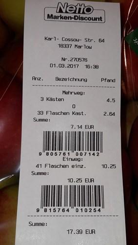 17,39 € sind es geworden
